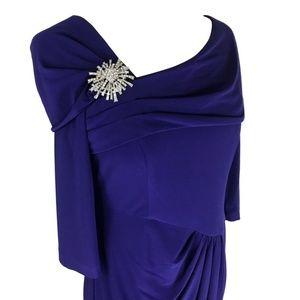 Alex Evening Blue/Purple Jersey Cocktail Dress